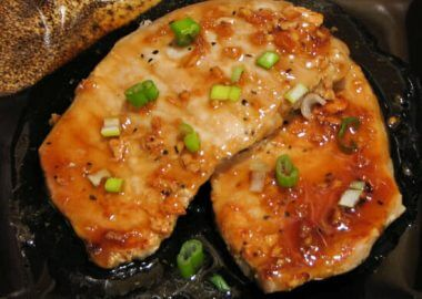 Pork Chops in a Garlic and Ginger Sauce
