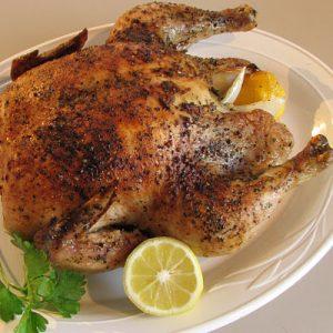 Lemon and Basil Slow Roasted Chicken