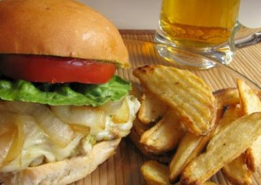 Pesto Chicken Sandwich with Caramelized Onions and Havarti