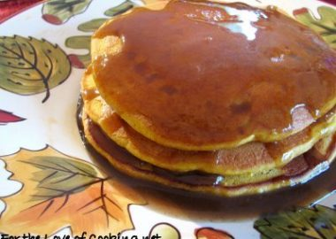 Pumpkin Pancakes with Cinnamon Syrup