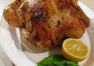 Lemon, Garlic and Basil Slow Roasted Chicken