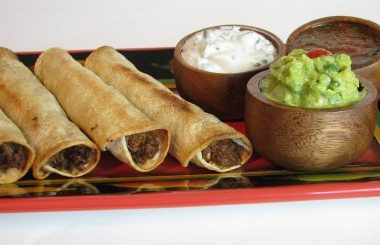 Baked Shredded Beef Taquitos