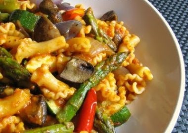 Campanelle with Roasted Vegetables and Marinara