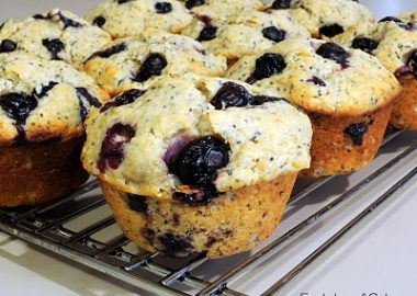 Lemon Poppy Seed Blueberry Muffins