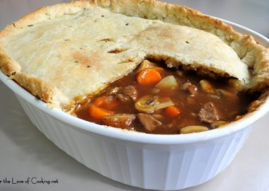 Beef Pot Pie with Chive Crust
