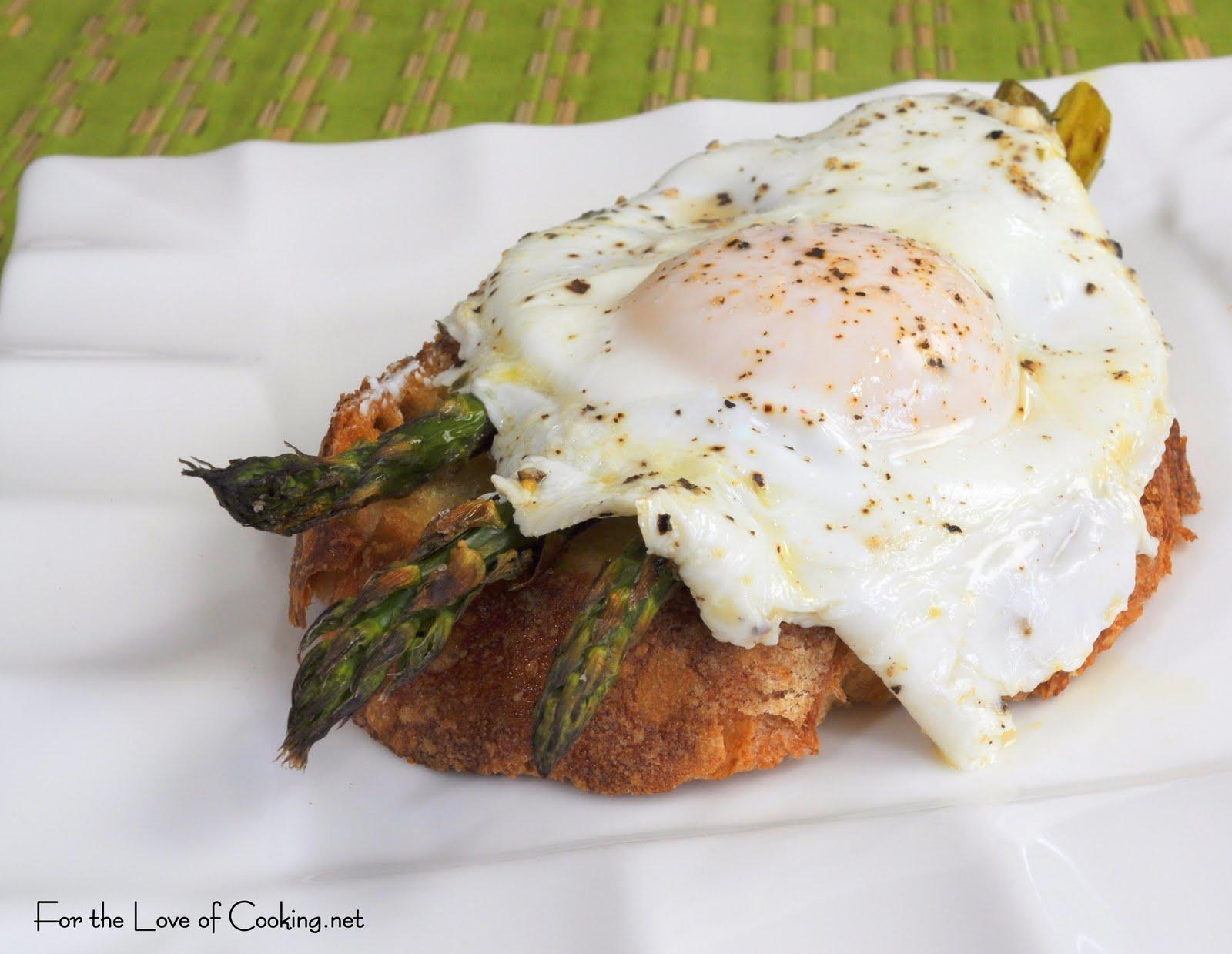 Roasted Asparagus and Steamed Egg on Toast
