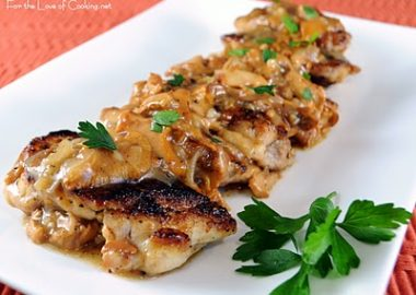 Chicken Thighs with Chanterelle Mushroom Sauce
