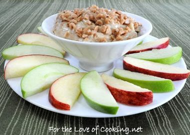 Toffee Crunch Dip with Apple Slices