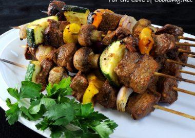 Spicy Steak Kebabs
