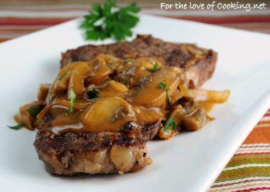 Steak with Stroganoff Sauce