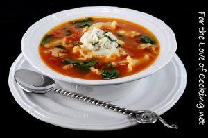Spinach Lasagna Soup