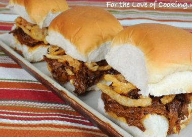 Barbecued Beef Sliders