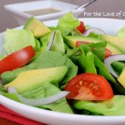 Avocado and Butter Leaf Salad with a Tangy Mustard Garlic Vinaigrette