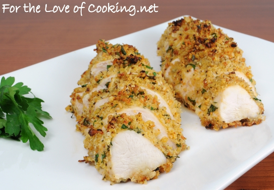 Mustard Herb Panko Crusted Chicken Breasts For The Love Of Cooking