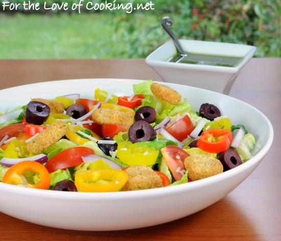 Italian Salad with Fresh Basil Vinaigrette