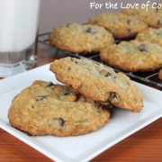 Granola Cookies with Chocolate Chips & Coconut