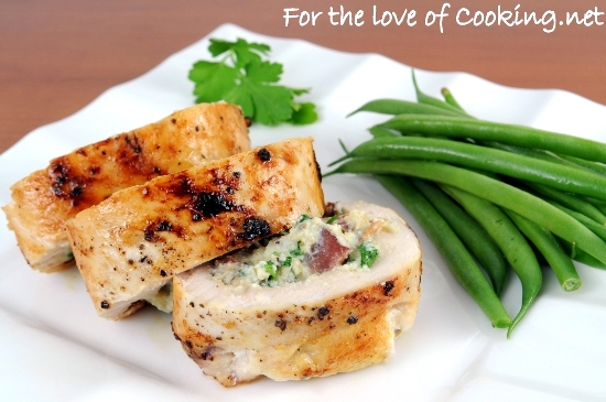 Ricotta Mushroom And Herb Stuffed Chicken Breasts For The Love Of Cooking