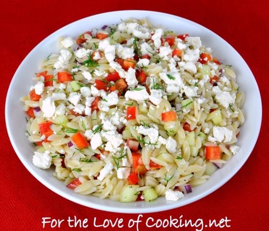 Lemony-Orzo Veggie Salad with Fresh Dill