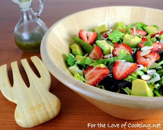 Strawberry and Avocado Salad with Honey Maple Poppy Seed Vinaigrette