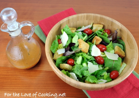 Mixed Green Salad With An Italian Vinaigrette For The Love Of Cooking
