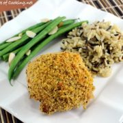 Oven-Fried Buttermilk-Mustard Chicken Thighs with Panko