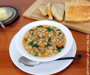White Bean Soup with Kale and Turkey Italian Sausage