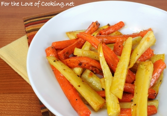 Roasted Carrots and Parsnips with Honey and Balsamic Vinegar