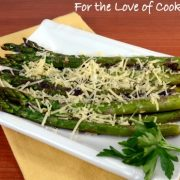 Pan Roasted Asparagus with Garlic and Parmesan