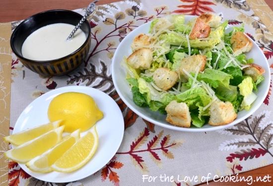 Caesar Salad with Homemade Garlic Croutons