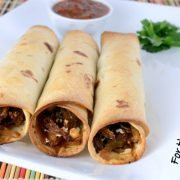 Shredded Beef, Caramelized Onion, and Cotija Cheese Baked Flautas