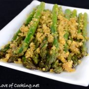 Roasted Asparagus with Garlicky Italian Panko