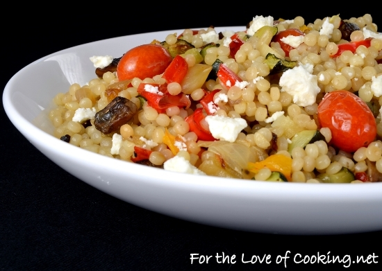 Roasted Vegetable Israeli Couscous For The Love Of Cooking