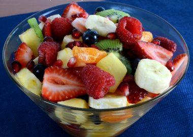 Fruit Salad with a Citrus Vanilla Sauce