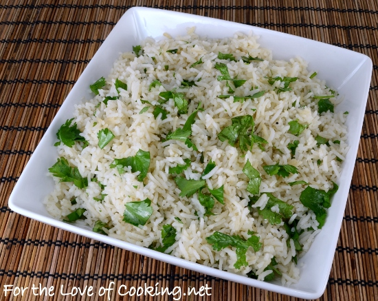 Coconut Cilantro Rice For The Love Of Cooking