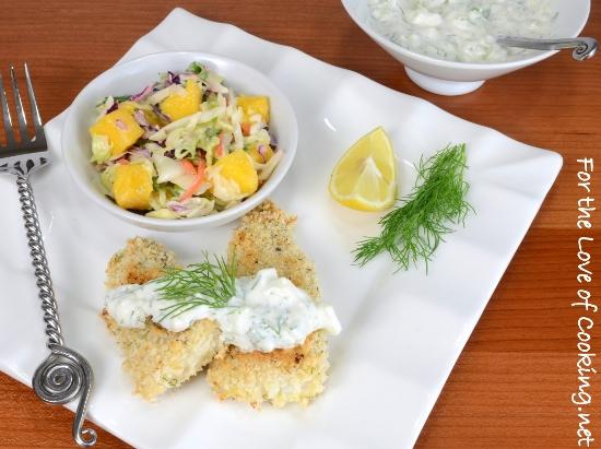 Lemon and Dill Panko Crusted Fish Sticks