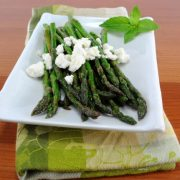 Asparagus with Lemon and Feta Cheese
