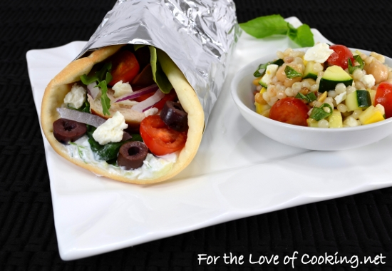 Chicken Gyros With Tzatziki Sauce For The Love Of Cooking