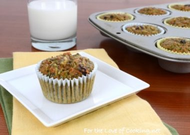 Zucchini Carrot Muffins with Dried Cherries and Pecans