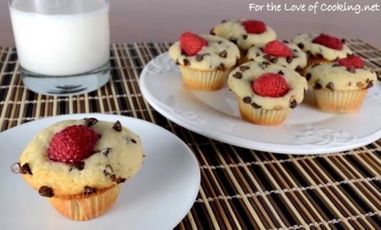 Chocolate Raspberry Mini Muffins
