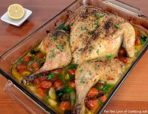 Greek Style Spatchcocked Chicken