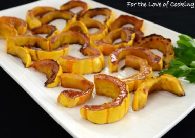Maple and Cinnamon Roasted Delicata Squash