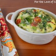 Veggie Mini Frittata with Asparagus, Tomatoes, Spinach, and Extra Sharp Cheddar
