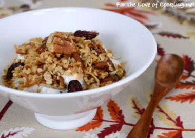 Pecan, Coconut, and Cherry Granola