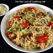Orzo with Garlicky Roasted Tomatoes and Parmesan
