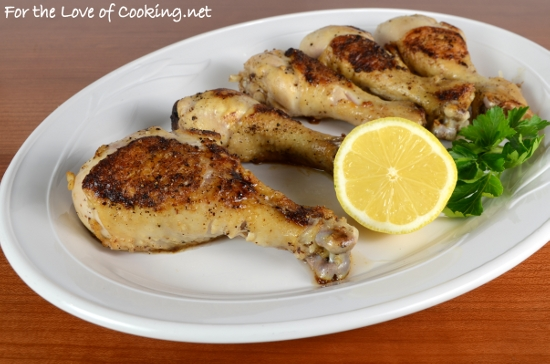 Lemon Garlic Baked Chicken Drumsticks