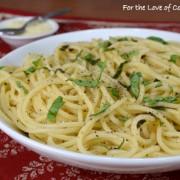 Lemon and Basil Spaghetti