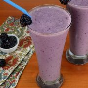 Blackberry, Banana, and Peach Smoothie