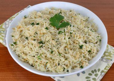 Garlic-Ginger Rice with Cilantro