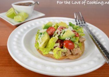 Pork Tenderloin Tostadas with Avocado