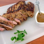 Grilled Asian Pork Tenderloin with Peanut Sauce